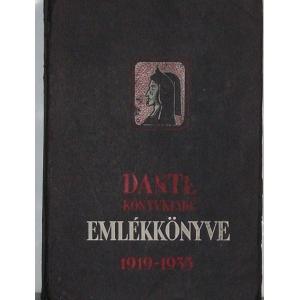 Dante Könyvkiadó Emlékkönyve 1919-1935